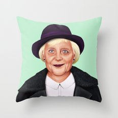 Hipstory -  Angela Merkel Throw Pillow