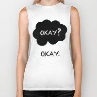 okay Biker Tanks featuring Okay by Hoeroine