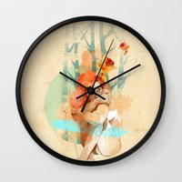 lonely Wall Clocks featuring Lonely by Ariana Perez