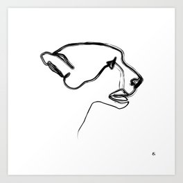 """ Animals Collection "" - Cheetah Art Print"