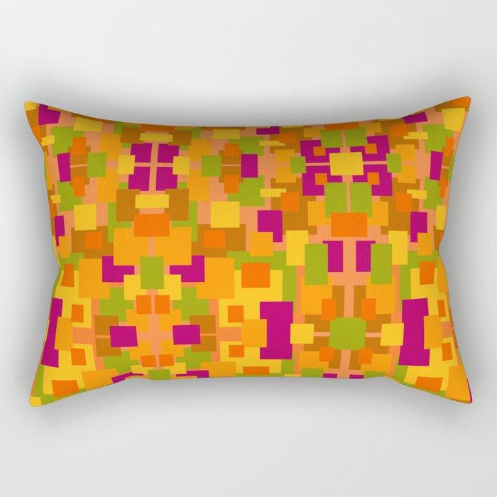Autumn Patch Multi Fractal Rectangular Pillow