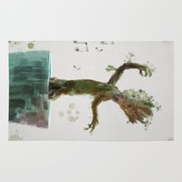groot Area & Throw Rugs featuring Baby Groot by Scofield Designs