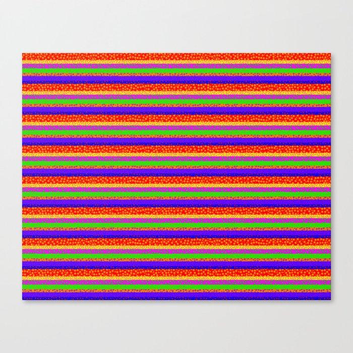 Bubbly Rainbow Striped Pattern Canvas Print