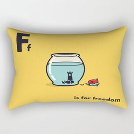 F is for freedom - the irony Rectangular Pillow