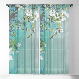 Spring Synthesis IV Sheer Curtain