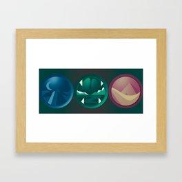 Circular Designs Framed Art Print