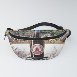 Vintage 1879 St. Louis Anheuser Brewing Lithograph Wall Art Fanny Pack