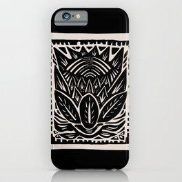 Woodcut Flower iPhone Case