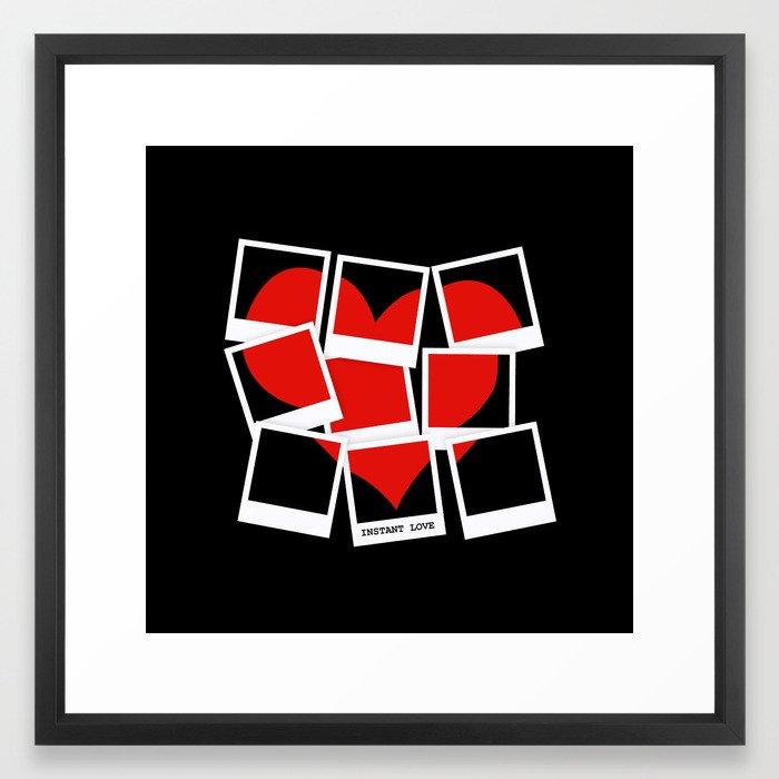 Instant (Photography) Love Framed Art Print