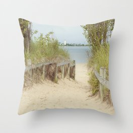 Path to the beach Throw Pillow