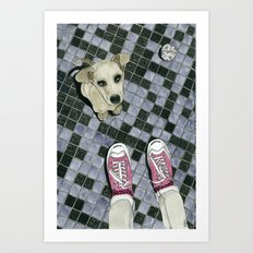 Let's play: Dog Art Print