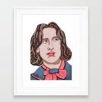 oscar wilde Framed Art Prints featuring Oscar Wilde by Emma Brutman