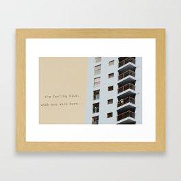 postcard from a tower block... Framed Art Print