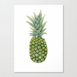 Watercolor pineapple print Canvas Print