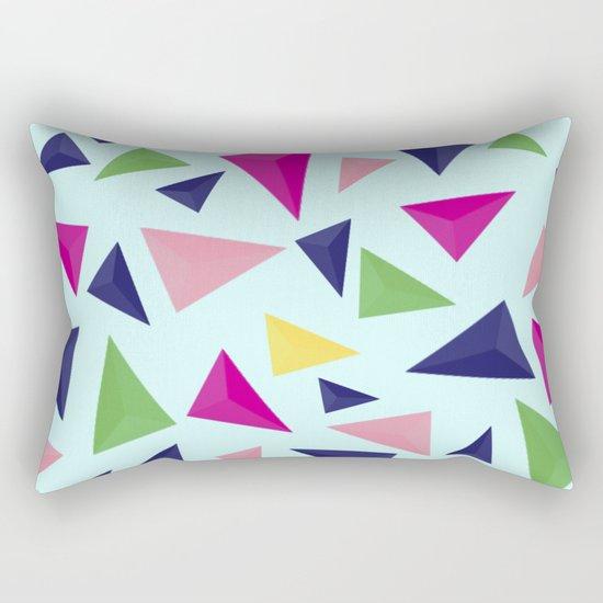 Colorful geometric pattern VIV Rectangular Pillow