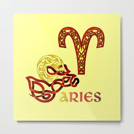 ARIES KNOT Metal Print