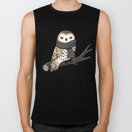 Winter Owl Biker Tank