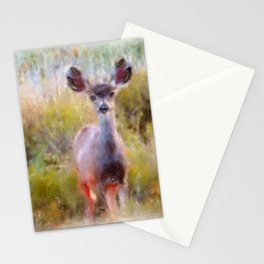 Mule Deer Fawn Stationery Cards