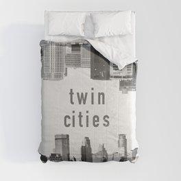 Twin Cities Minneapolis and Saint Paul Minnesota Skylines Comforters