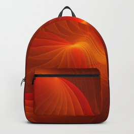 Much Warmth, Abstract Fractal Art Backpack