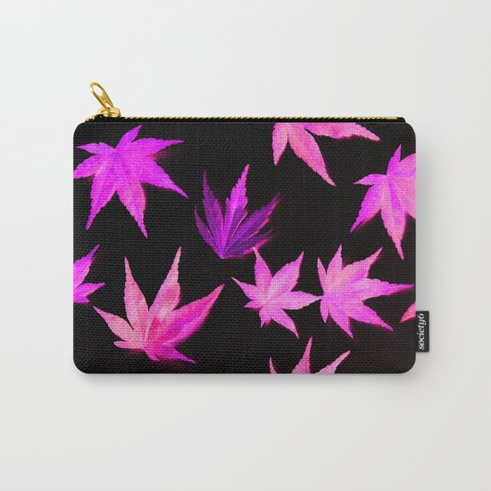 AUTUMN ROMANCE - LEAVES PATTERN #2 #decor #art #society6 Carry-All Pouch