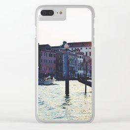 A Venetian Sunset Clear iPhone Case