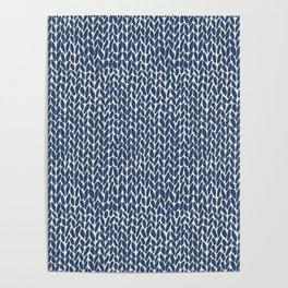 Hand Knit Navy Poster