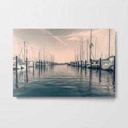 sailing ships in the harbor Metal Print