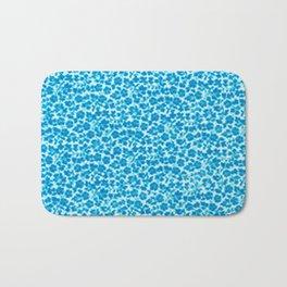 Blue Vintage Flowers Bath Mat