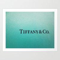 tiffany Art Prints featuring Tiffany by Christine Leanne