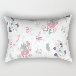Cute colorful flowers attern Rectangular Pillow