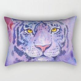 purple tiger Rectangular Pillow