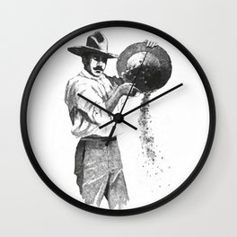 Gold digger Wall Clock