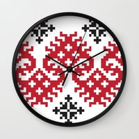 folk Wall Clocks featuring folk by muminn