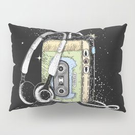 portable cassette player with headphone Pillow Sham
