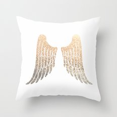 GOLD WINGS Throw Pillow
