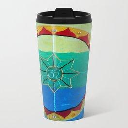 Chakra Mandala - Solar Plexus, Heart Charka & Throat Chakra  Travel Mug