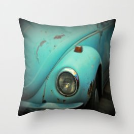 Vintage Volkswagen Bug Throw Pillow
