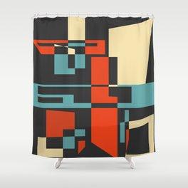 Retro Style 02 Shower Curtain