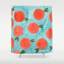 A Mess of Oranges Shower Curtain