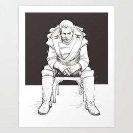 Cullen Rutherford, formal attire Art Print