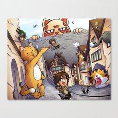 Attack on Kitten - Attack on Titan Canvas Print
