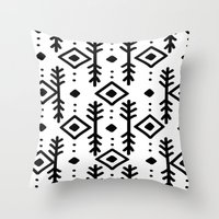 nordic Throw Pillows featuring NORDIC by Nika