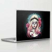 dia de los muertos Laptop & iPad Skins featuring ¡Dia de los Muertos! by Tati Ferrigno