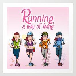 Running girl Art Print