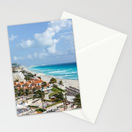 Cancun city on beachside Stationery Cards