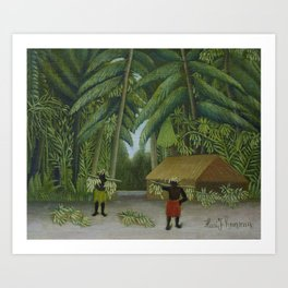 Banana Harvest Art Print