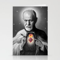 freud Stationery Cards featuring Freud by Michelle Wenz