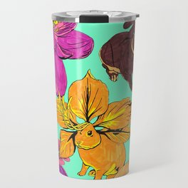 Flower Bunnies Travel Mug