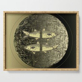 Planetary Mood 5b / Vertical Divergence 10-02-17 Serving Tray